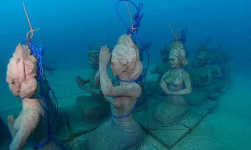 Patung Garuda & Ribuan Struktur Karang mulai Hiasi Bawah Laut Bali