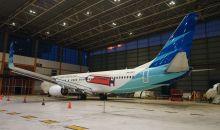 Livery Simbol Vaksinasi Terpasang di Badan Pesawat Garuda Indonesia